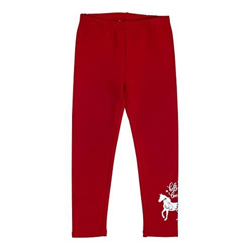 SALT AND PEPPER Mädchen Horses Pferdeprint mit Pailletten Leggings, Rot (Cherry Red 337), (Herstellergröße: 116) -