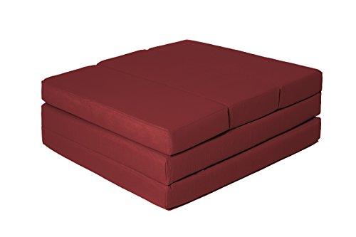 ZOLLNER Colchón Plegable para Invitados, 65x220 cm, Rojo