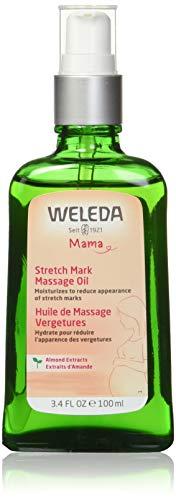 WELEDA Schwangerschafts-Pflegeöl, pflegendes Naturkosmetik Massageöl zur Vorbeugung- und Beseitigung von Schwangerschaftsstreifen am Bauch, Oberschenkel und an der Brust (1 x 100ml) -