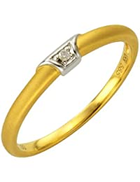 Diamonds by Ellen K. Damen-Ring 585 Gelbgold Brillant 0.01 Karat 170370157-1