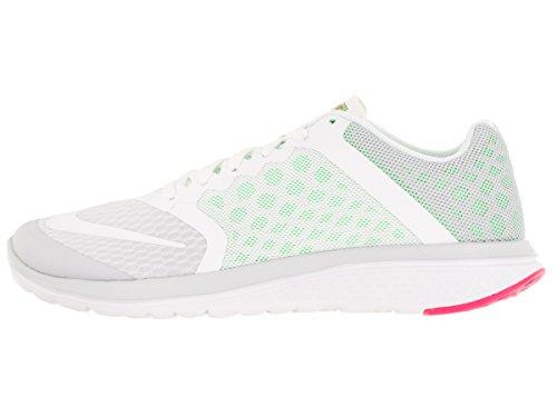Nike Wmns Fs Lite Run 3, Scarpe da Corsa Donna Argento (Pr Pltnm / White-Vltg Grn-Hypr P)