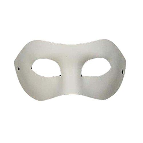 Set von 10 weißen Augenmasken Malerei Maske DIY Papier Maske Halloween Kostüm Maske