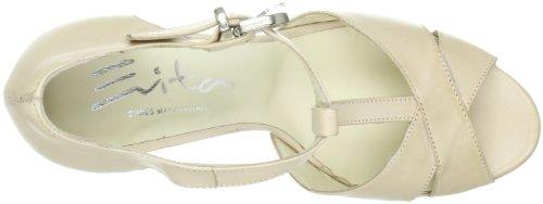 Evita Shoes elegant 09FA612110 Damen Sandalen/Fashion-Sandalen Elfenbein (Cremeweiß)