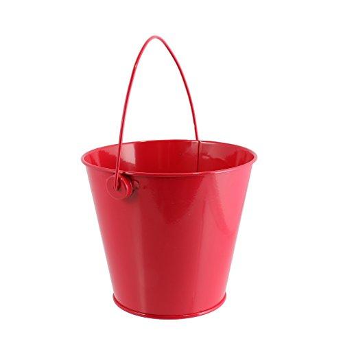 Fenteer Mini Metall Eimer Dose Box Candy Buckets Geschenk Blecheimer für Hochzeit Party Baby Duschen - Rot, L - Baby-dusche-bevorzugung Süßigkeiten