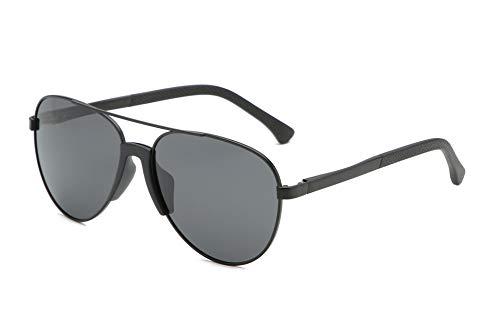 GOLDT1 Sonnenbrille Fliegersonnenbrille Lässige Sportsonnenbrille, 100% UV-Schutz für die Fahrerabdeckung von Männern (Size : Black Frame Gray Lens Lens)