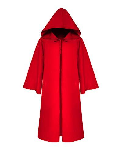 GladiolusA Erwachsene/Kinder Umhang Cape Mit Kapuze Vampir Zauberer Kostüm Halloween Karneval Party Cosplay Rot2 Erwachsene/M (Für Kinder Vampir-capes)