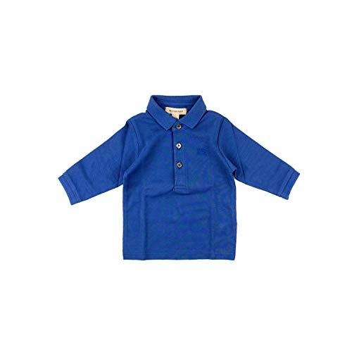 BURBERRY Langarmpolo - blau, Größe:6 Monate / 68