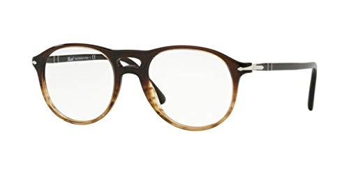 Ray-Ban Herren 0PO3202V Brillengestelle, Schwarz (Gradient Black/Striped Brown), 51