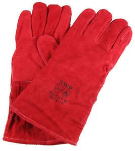 WOODBURNER GLOVES HIGH TEMPERATURE STOVE LONG LINED WELDERS GAUNTLETS LOG FIRE