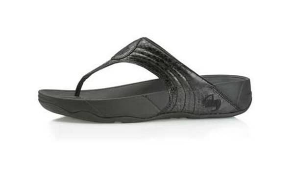 c93ef24f334f Fitflop Womens Walkstar III Black Snake Leather Shoes UK Size 6.5 Limited  Edition  Amazon.co.uk  Shoes   Bags