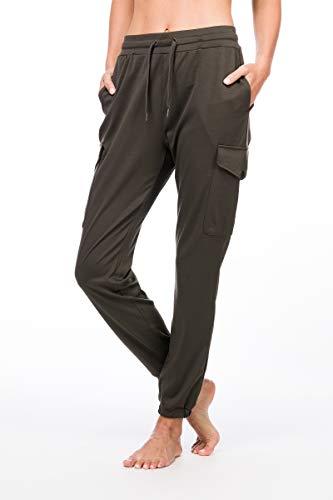 super.natural Bequeme Damen Cargo-Hose, Mit Merinowolle, W CARGO PANTS, Größe: XS, Farbe: Khaki -