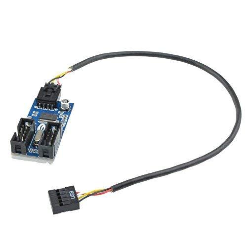 9PIN USB Header Männlich 1bis 2weiblich Verlängerung Splitter Kabel 9P LOETAN Connector Adapter
