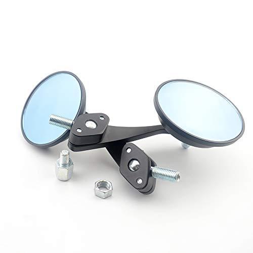 Baedivg Rundklappbarer 8 & 10 mm Adapter Heck Chopper Cruiser E-Bike Scooter Spiegel Für Honda, für Suzuki, für Kawasaki, für BMW Spiegel