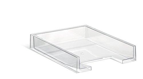 DURABLE 772619 - Vaschetta portacorrispondenza Cubo, impilabile, per documenti f.to A4 e extra large, 350x60x265 mm, trasparente