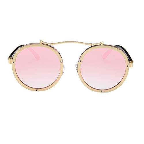 YULAND Hochwertige Sonnenbrille Rubber Vintage Brille, Frauen Männer Vintage Retro Brille Unisex Big Frame Sonnenbrillen Eyewear