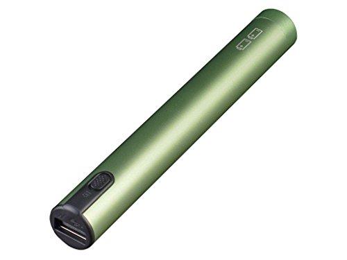 SilverStone SST-PB05G Aluminium-Powerbank-Mobiltelefon-Ladegerät für 2x AA-Batterien mit USB Micro-B Input und USB-A female Output, grün