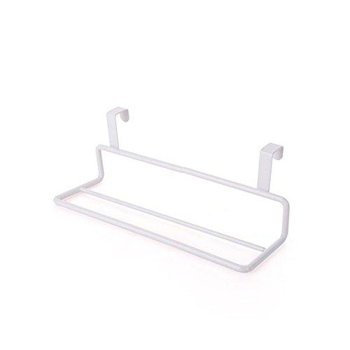 calistous Tür Handtuch Rack Bar zum Aufhängen Halterung Schiene Badezimmer Küche Schrank Aufhänger Regal weiß (Handtuchhalter Weißes Regal)