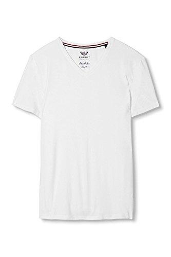ESPRIT Collection Herren T-Shirt Weiß (White 100)