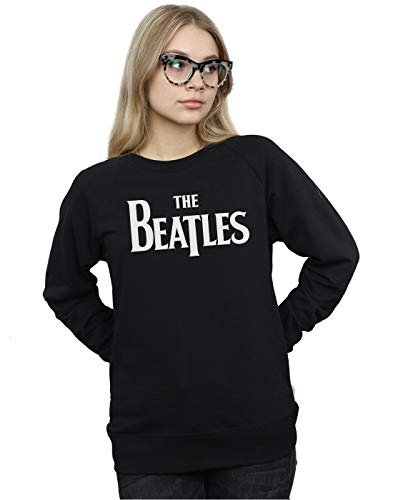 The Beatles Damen Drop T Logo Sweatshirt Schwarz Small