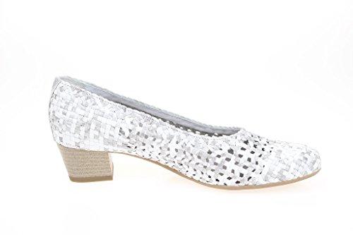 ara Nizza, Scarpe col tacco donna Silber-Weiß Bianco