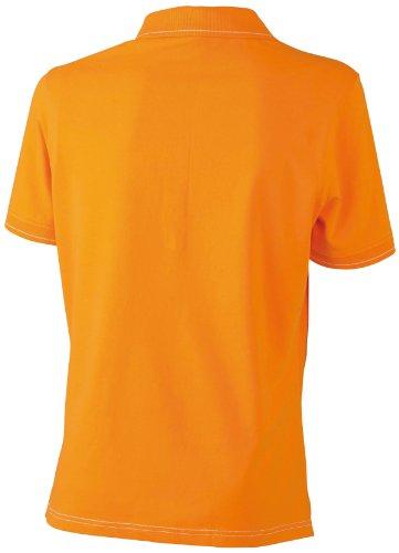 James & Nicholson Damen Poloshirt Orange/White
