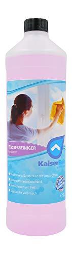 KaiserRein Fenster - Reiniger & Glasreiniger Konzentrat 1L mit Lotuseffekt Abperleffekt