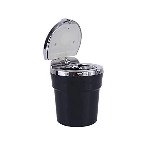 Auto Aschenbecher mit Deckel Multifunktions-Zigaretten-Aschenbecher mit LED-Licht Easy Clean Tragbarer Auto, Auto, Indoor-Tischplatte oder für den Außenbereich (Tischplatte, Licht Stehen)