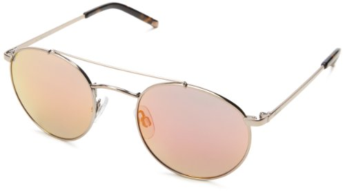Kenneth Cole New York KC7096W5045L Round Sunglasses,Shiny Light Brown,50 mm