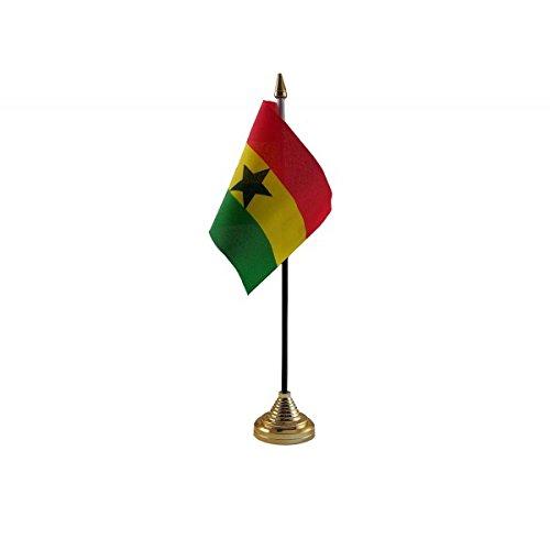 12Stück Ghana ghanaische Desktop Tisch Mittelpunkt Flagge Flaggen mit Gold Grundlagen ideal für Party Konferenzen Büro Display