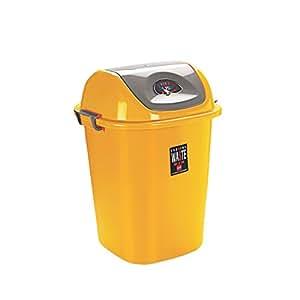 Cello Plastic Esquire Dustbin, Yellow, 40 Litre