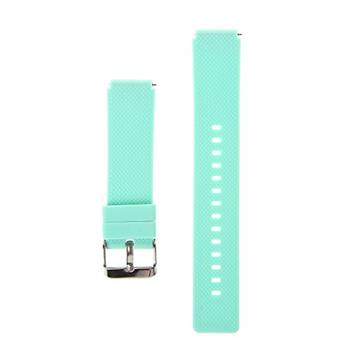 Jiamins Ersatz-Uhrenarmband, 18 mm, Silikon, für Huawei Uhren/Fossil Q Tailor/LG Uhren/Withings Activite/Withings Steel HR, grün, fit: 18mm