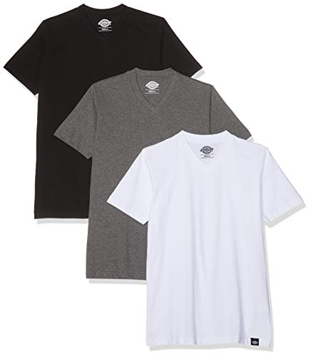 rt V Neck 3er Pack,Mehrfarbig (White/Black/Grey),XS ()