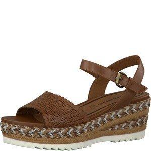 Tamaris Schuhe 1-1-28370-28 bequeme Damen Sandalette, Sandalen, Sommerschuhe für modebewusste Frau, braun (COGNAC), EU 37