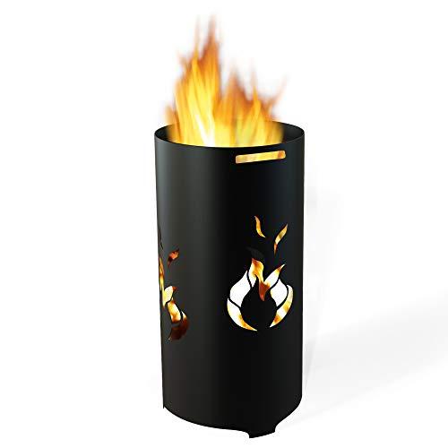*TE Feuertonne Flamme, roh*
