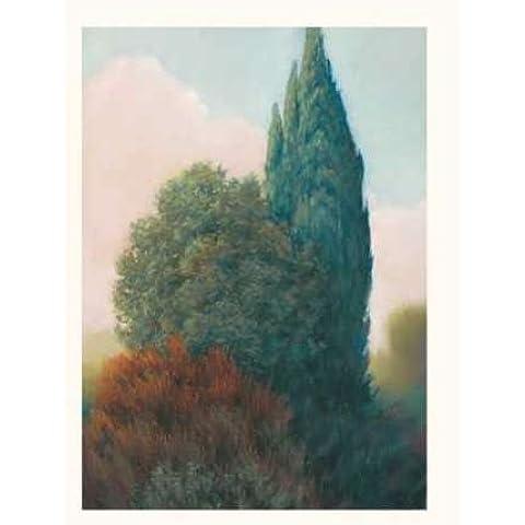 Feeling at home, Stampa artistica x cornice - quadro, fine art print, Tuscan Trees II cm 61x46