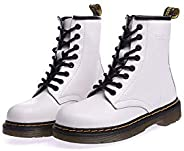 ladies dr marten boots Leather Martin boots Fashion warmth short tube women's boots Couple leather b