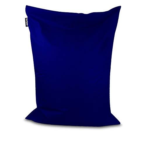 Sitzsack Beanbag rechteckige Bodenkissen 32 Farben & 4 Größen wählbar Indoor Outdoor Sitzsäcke Riesensitzsack Kindergarten Sitzkissen Schule Bean Bag ohne Rand (Marine/dunkelblau-150x100 cm) -
