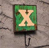 Crochet Mural Vintage Design Decoratif Porte Clés Original X alphabet lettre