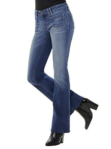 ONLY Damen Hose Onlnew Ebba Low Flared Jeans BB REA6657 Denim Bootcut (W27/L34)
