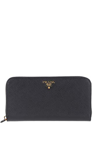 Prada luxury fashion donna 1ml506qwaf0002 nero portafoglio | stagione permanente