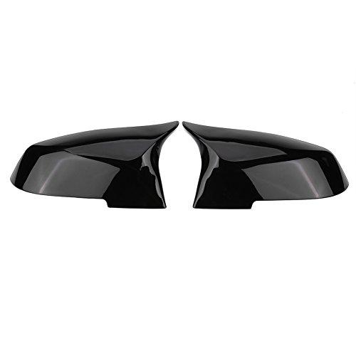 Keenso 1 Paar Spiegelkappen Tür Spiegelkappen Rückspiegelkappe Spiegelkappen abdeckungen Seitenspiegel abdeckungen(Schwarz glänzend)