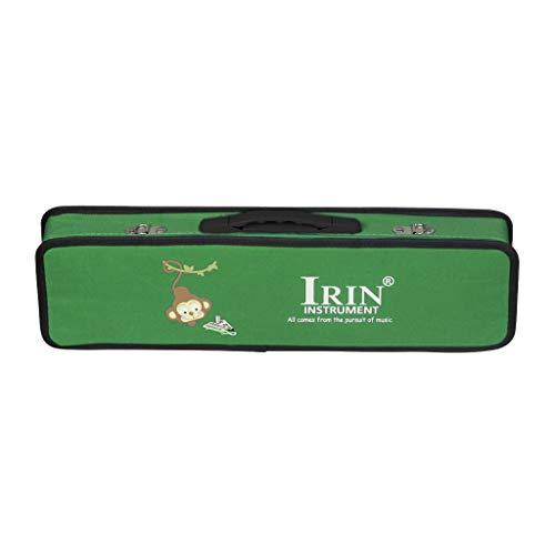 perfk 32 Tasten Melodica Tragetasche Tasche Koffer aus Oxford Tuch, Wasserdicht - Grün