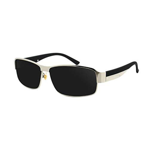 SUNGLASSES Sonnenbrille Man, Black Frame Driving Strahlenschutz Anti-UV-Augenschutz Shades Wayfarer Polarized (Farbe : C)