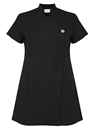 Proluxe signature button beauty tunic hairdressing for Spa uniform amazon