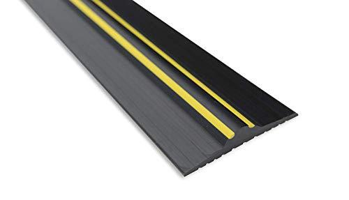 Weather Stop 20 mm (Höhe) Bodenabdichtung für Garagentore   3,12 m   PVC schwarz/gelb   Kleber im Kit enthalten