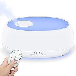 LAITITOP Humidificateur Bébé Humidificateur d'Air Maison Bébé 1 L, Grand Buse à 360 Degrés, Protection Niveau d'Eau Bas, Voyant LED
