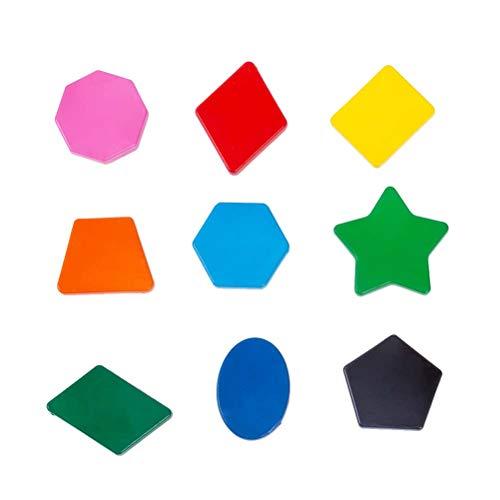 stobok 9pcs six couleurs peinture crayons polygone forme crayon sécurité non toxique peinture outils pastels pour garçons