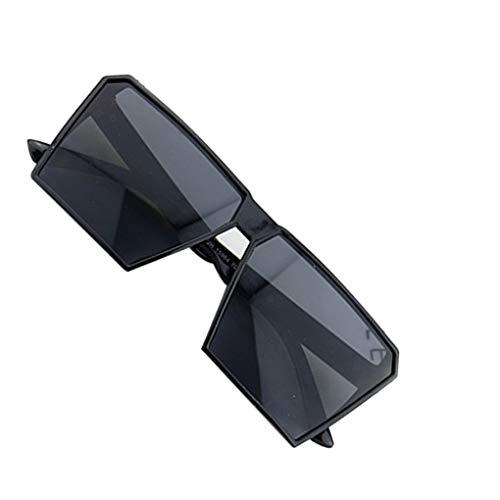 Busirde Große Rahmen Retro-Sonnenbrille Retro-Platz Brillen Männer Jungen Frauen Mädchen Brillen Street UV400