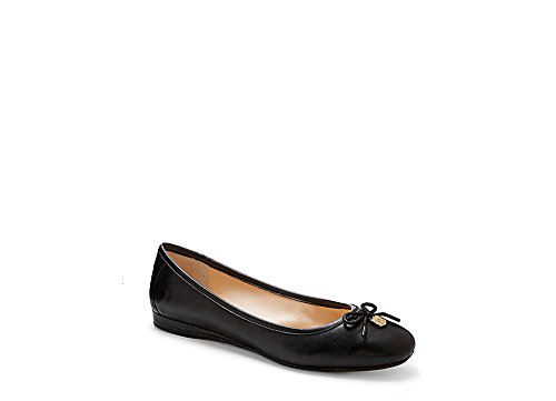 Vince Camuto Ria Cuir Chaussure Plate Black