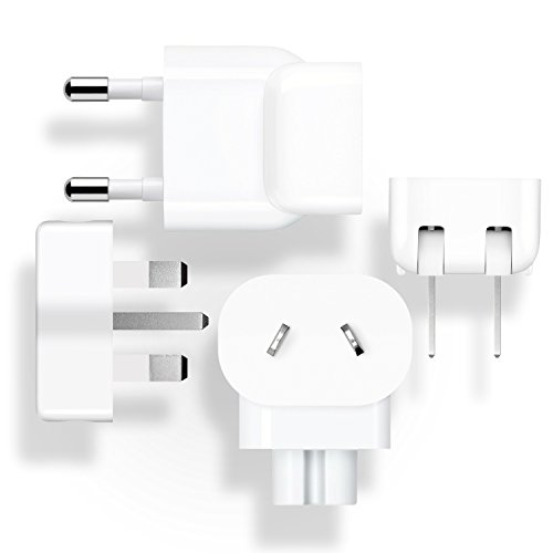 Preisvergleich Produktbild 1heit® Welt-Reise Adapter Kit für Apple Netzteile Ladegeräte 4 Adapter UK HK AU EU US CN Duckhead Adapter MagSafe 1 2 10W 12W USB für MacBook iPhone iPad